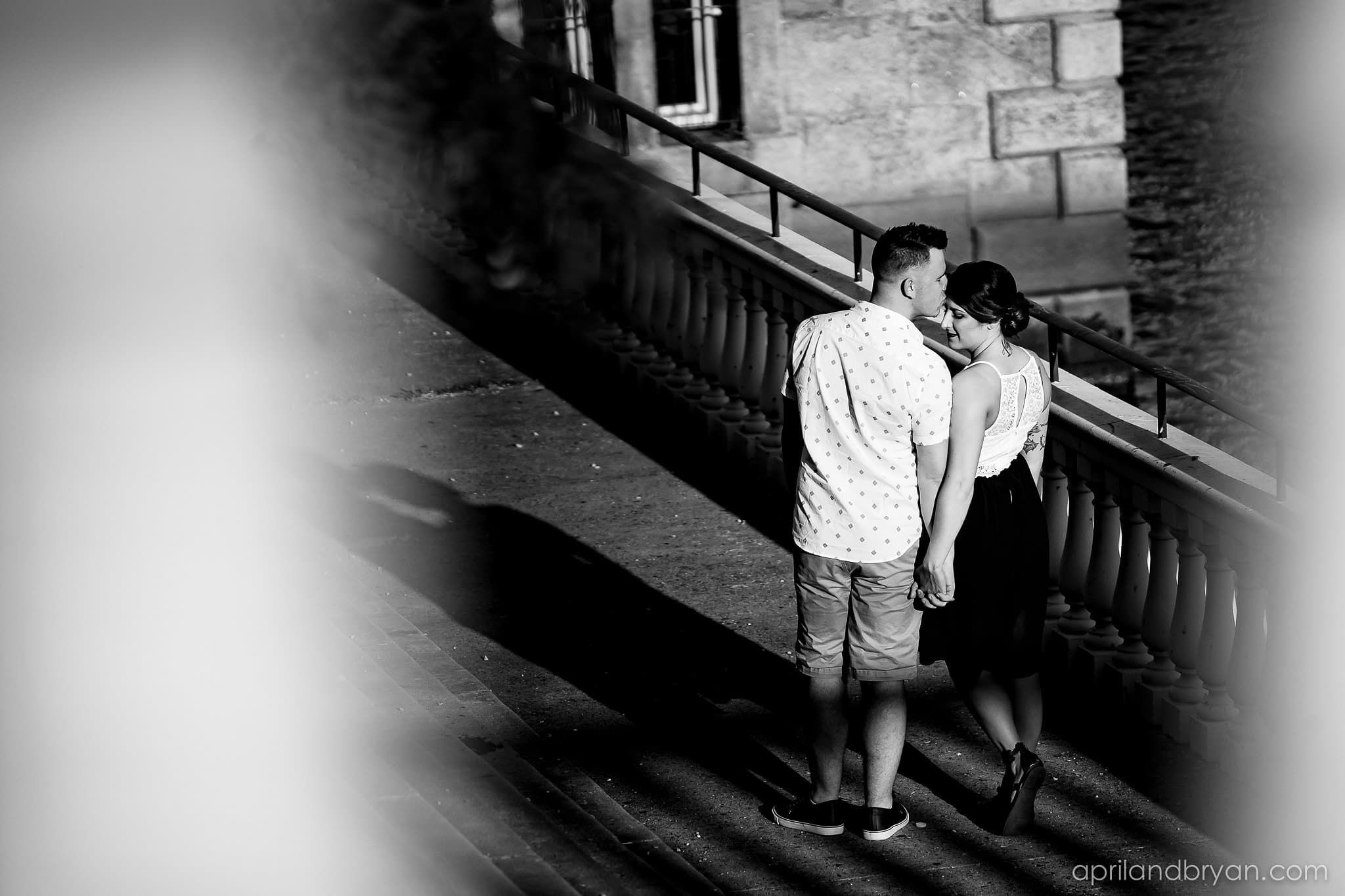 waterworks engagement session