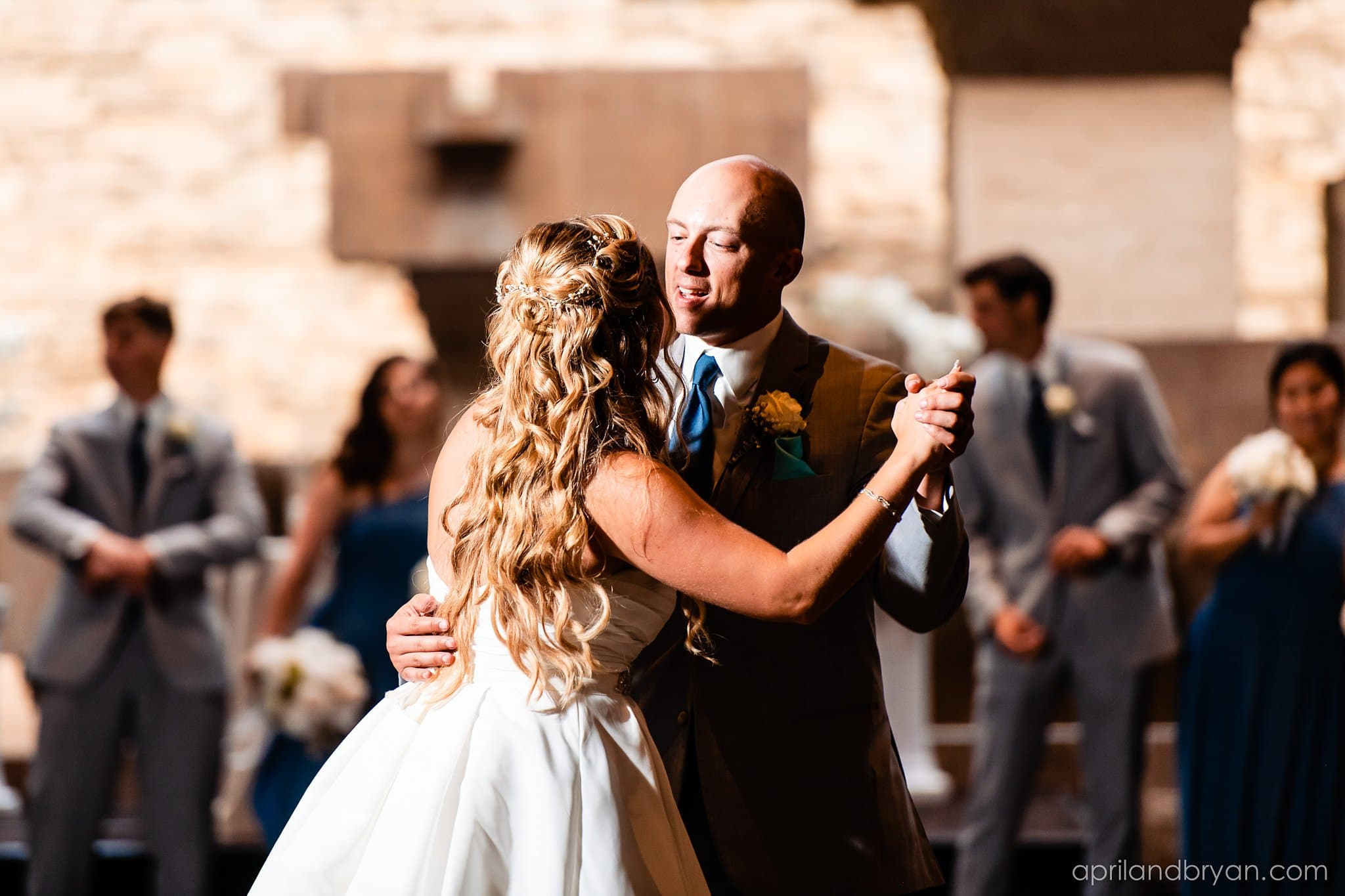 bride and groom first dance at the eden